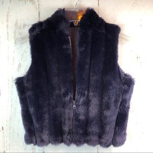 Faux Fur Vest, Size Small